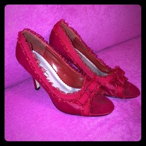 Laced Red Charlotte Russe Heels Size 6